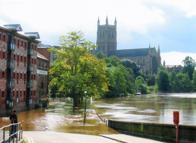 Worcester, River Severn Over Its Banks Again