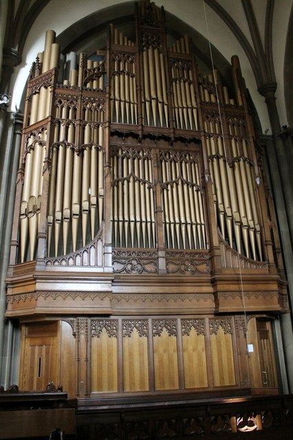 Organ in All saints' church, Bakewell