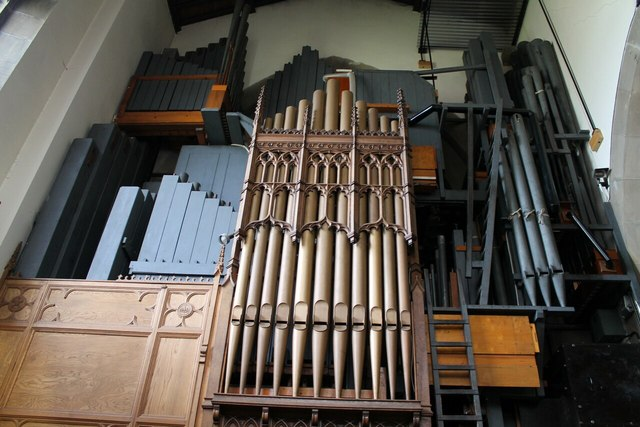 Rear view of Organ, All saints' church, Bakewell
