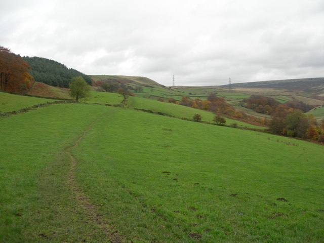 Looking north towards Lees Hill