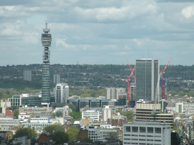 View of BT Tower from London Eye