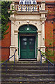 TL6645 : Entrance to Haverhill Corn Exchange (1889) by Julian Osley