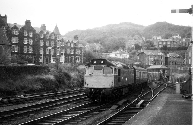 Class 27 arriving at Oban in 1979