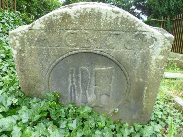18thC tombstone, Culross Abbey Kirkyard