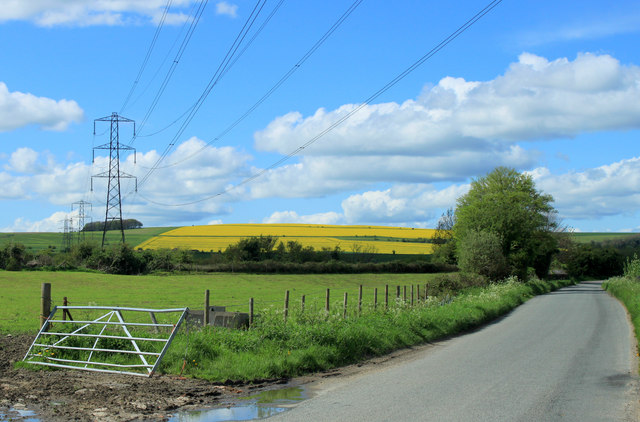 2012 : Pylons line up near Coate