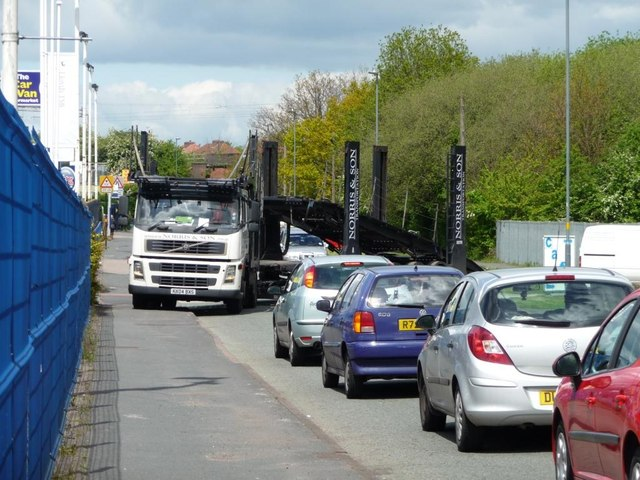 Car transporter, Mackadown Lane