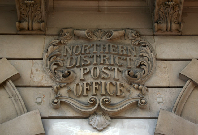 Cartouche, Northern District Post Office