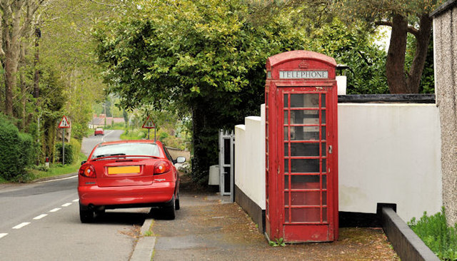 Telephone box, Ballylesson, Belfast