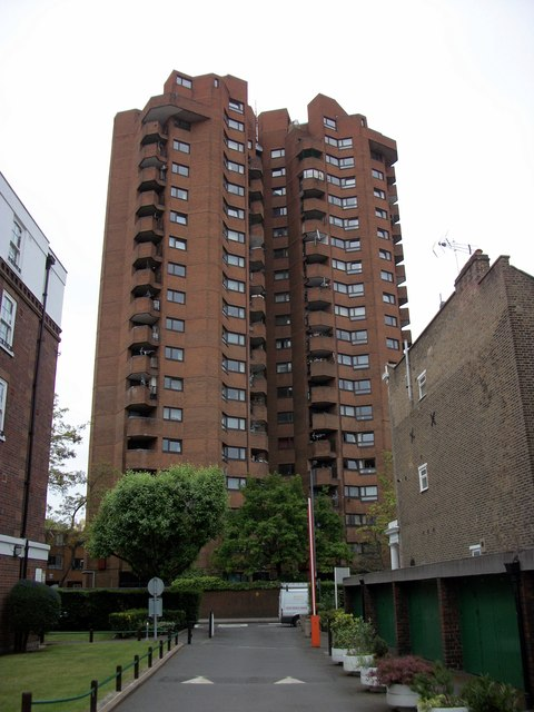 Tower Blocks at World's End Estate Chelsea