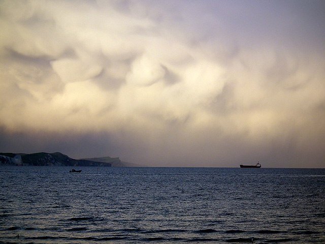 Storm Clouds over Weymouth Bay