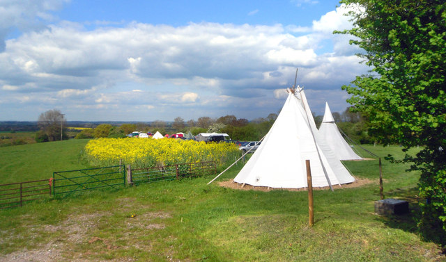 Campsite at Britchcombe Farm