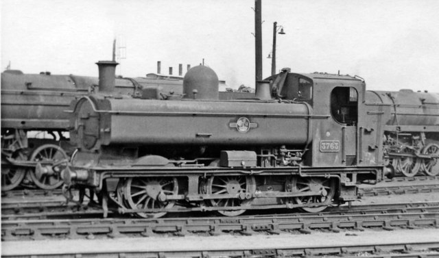 Ex-GW '8750' class 0-6-0 Pannier tank in Bath Road Locomotive Yard at Bristol Temple Meads