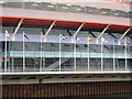ST1776 : Cardiff: flags outside the Millennium Stadium by Chris Downer