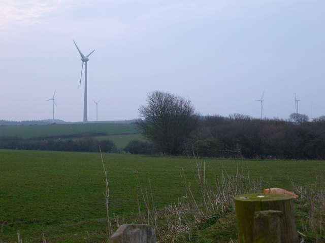 Overlooking the wind farm