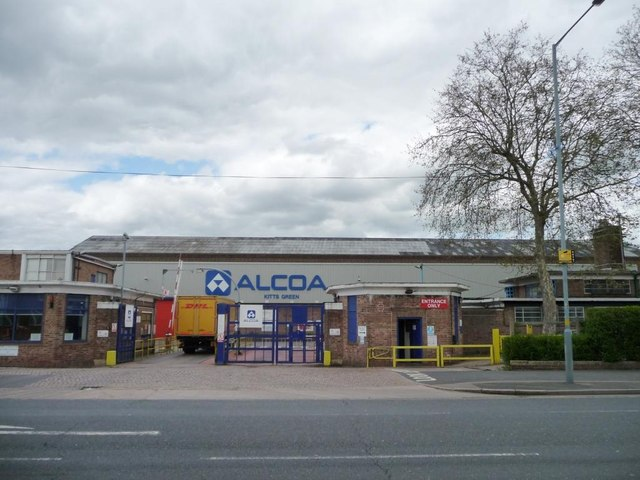 Entrance to Alcoa works, Kitt's Green