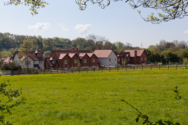 Backs of new housing at The Maltings