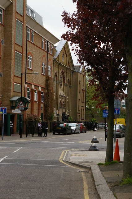 Mansford Street, E2: school, Unitarian chapel and manse