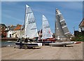 NT5585 : Mirror dinghies at North Berwick by Walter Baxter