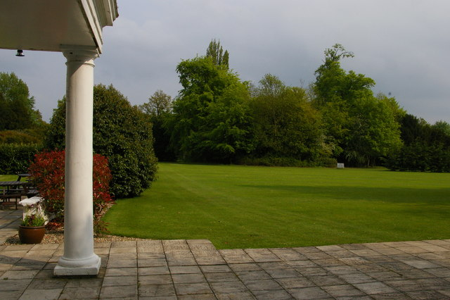 Manor of Groves Hotel, grounds from the colonnade
