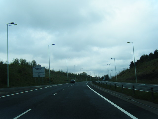 Blaenu Gwent boundary on the A465