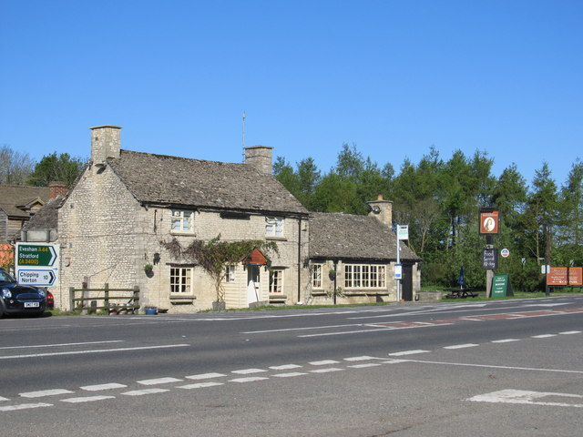 Duke of Marlborough Public house on the A44 north of Woodstock