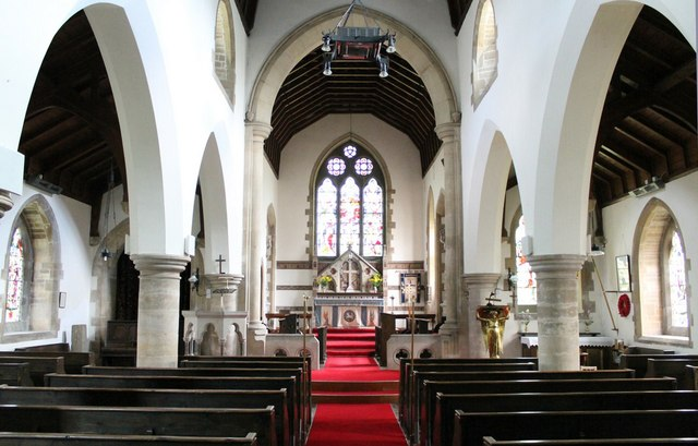 Interior, All Saints' church, Harmston