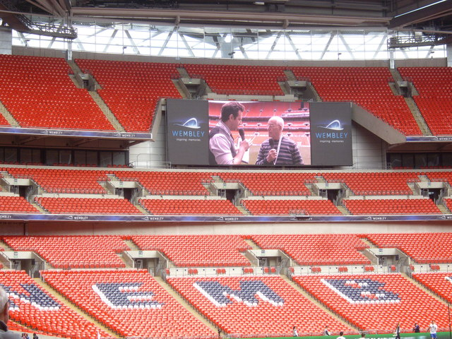 A Wembley Stadium Tv Screen 169 Stanley Howe Geograph
