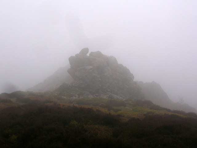 The Stiperstones under low cloud