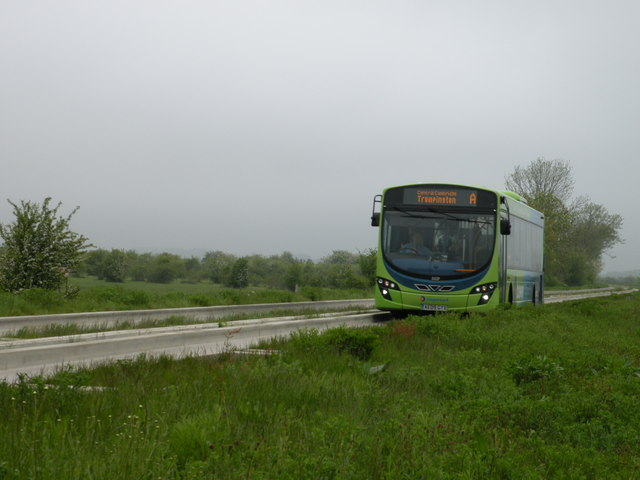 Guided Bus on Guided Busway