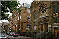 TQ3482 : Mansford Street, E2: Unitarian chapel and Oaklands School by Christopher Hilton