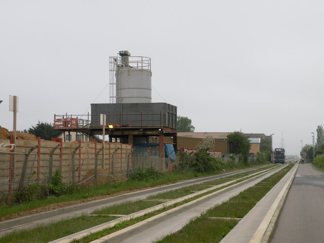 Storage tanks beside the Busway