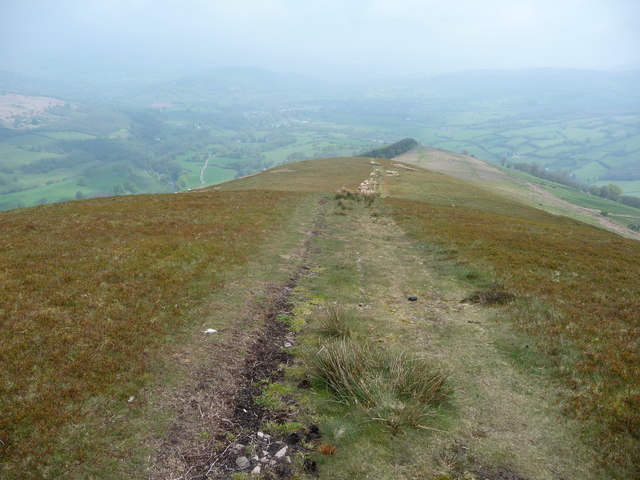 Path down the eastern slope of Tor y Foel