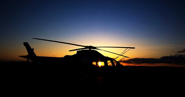 A109 at Sunset