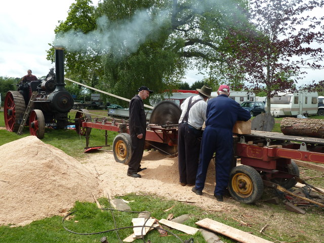 Devon County Show - sawing by steam