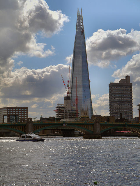 River Thames, Southwark Bridge and The Shard