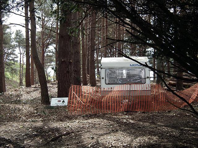 Tree surgeon's caravan