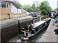 TQ0694 : The Dragonfly Narrow Boat leaving Chess Lock No 81 on the Grand Union Canal at Rickmansworth by PAUL FARMER