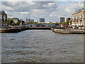 TQ3679 : River Thames, Greenland Dock by David Dixon