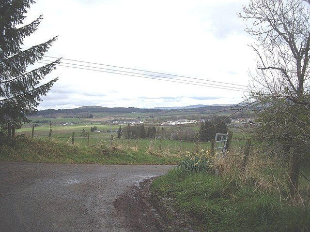 Sharp bend on the road from Tullochbeg