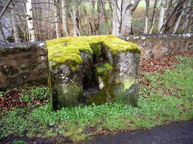 An old stone gatepost
