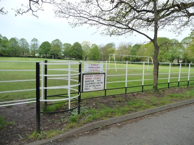 Entrance to Over Peover playing field