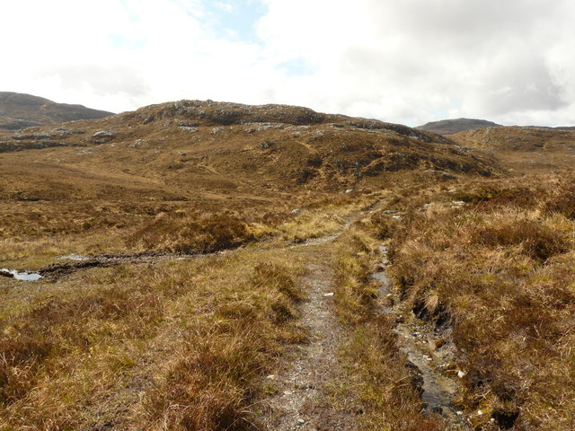 Track junction above Loch na h-Ath