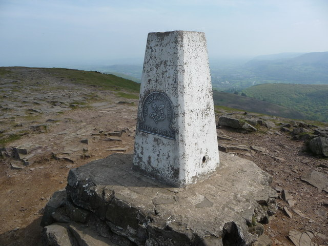 The summit trig point on the Sugar Loaf