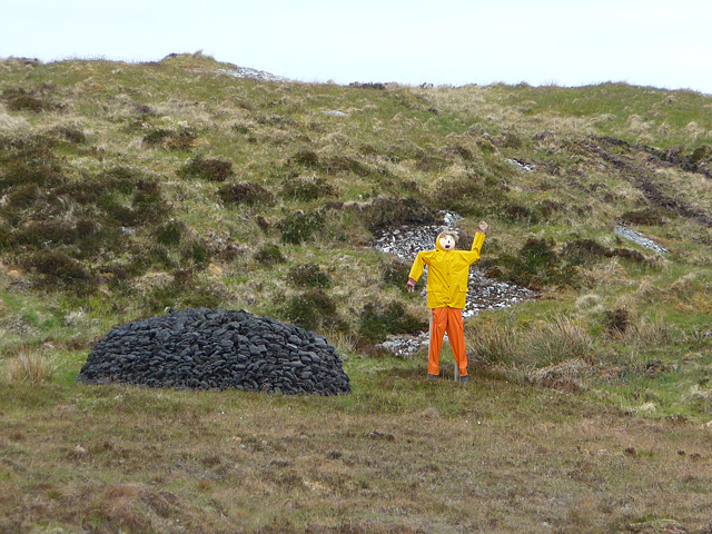 Guarding the peat stack