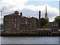 TQ3579 : Thames Tunnel Mills (and St Mary's Church Spire) by David Dixon