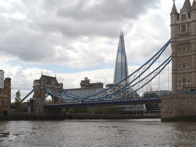 River Thames, Tower Bridge and The Shard