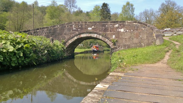 Bridge 50 across the Caldon Canal at Consall