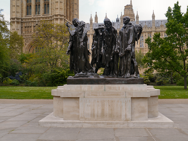 The Burghers of Calais Outside The Palace of Westminster