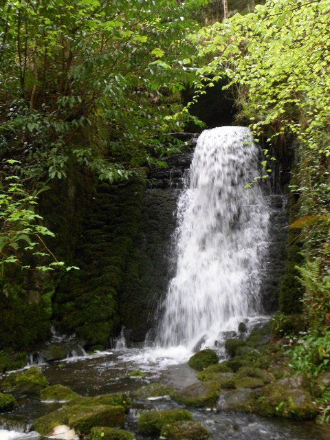 Waterfall in Nant Meigan, Beaumaris