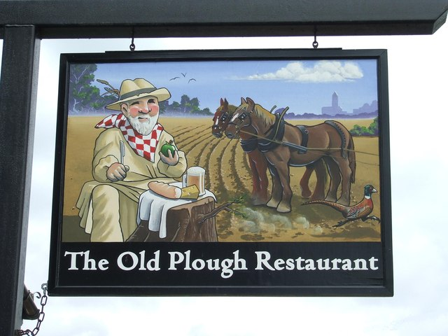 Old Plough Restaurant Sign